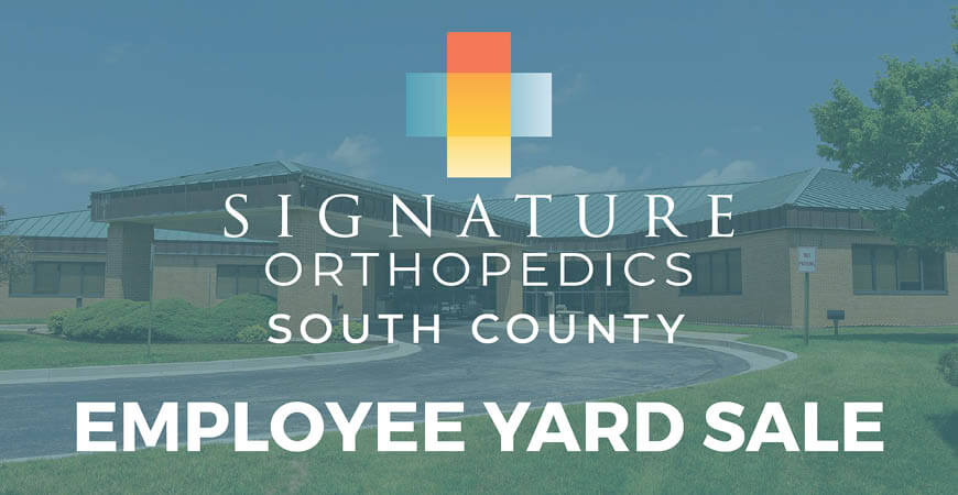 SigOrtho South County Yard Sale