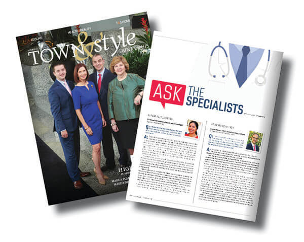 Town and Style magazine cover